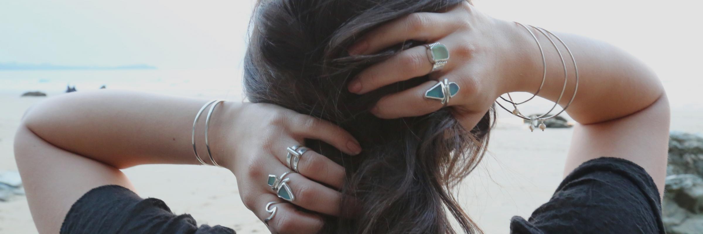 SeaSurfRocks ocean inspired sterling silver jewellery handmade in Cornwall Slider 2