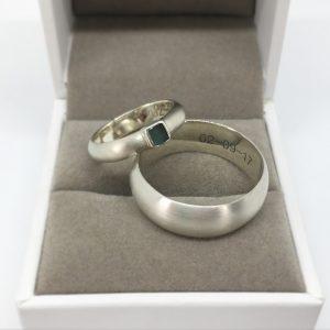 sea glass wedding ring