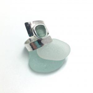 adjustable sea glass ring