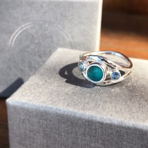 sea glass engagement ring