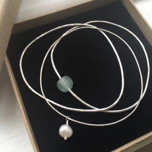 SeaSurfRocks ocean inspired sterling silver jewellery handmade in Cornwall bracelets and bangles