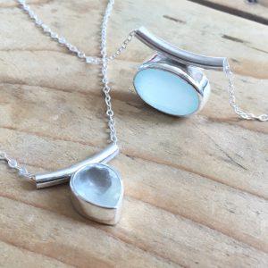 SeaSurfRocks ocean inspired sterling silver jewellery handmade in Cornwall necklaces