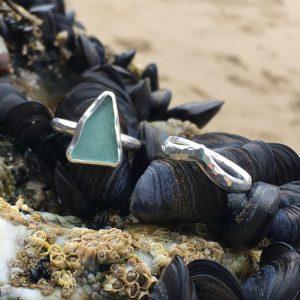 SeaSurfRocks ocean inspired sterling silver jewellery handmade in Cornwall rings.